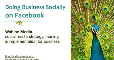 Slideshare: Doing Business Socially on Facebook