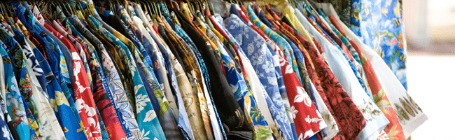 Rack of aloha shirts