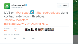 adidas periscope live example