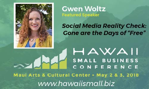 Gwen speaking at Hawaii Small Business Conference