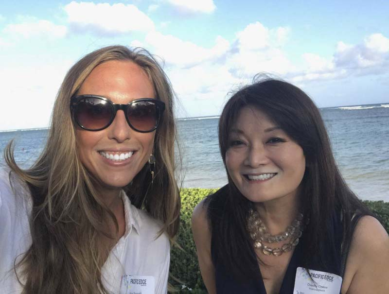 Keri and Diedre representing Wahine Media before PacEdge event
