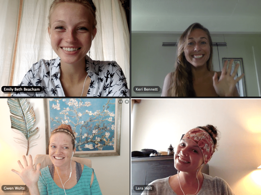 The happy faces of telecommuters