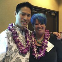 Wilbur Wong and Karen Weikert, speakers at World Philanthrophy Day