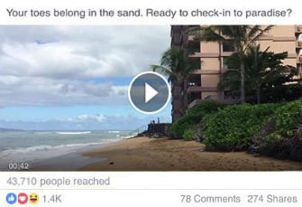 social media marketing Hawaii example