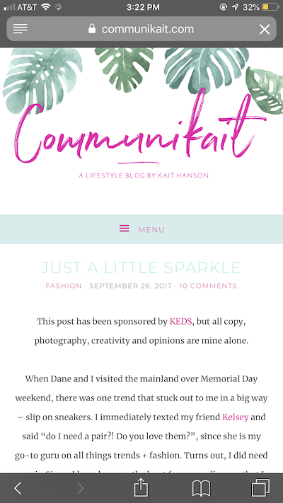 a screenshot of a sponsored blog post from Communikait featuring text about KEDS